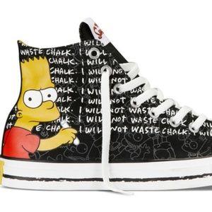 RARE Converse Bart Simpson Shoes Sz 4/6